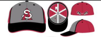 AR STORM HATS  red gray