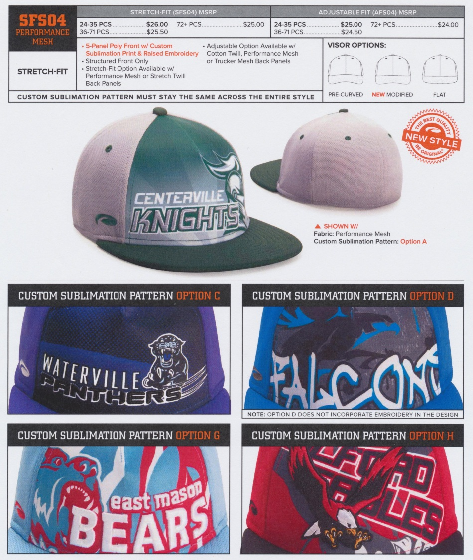 sublimated hat 1